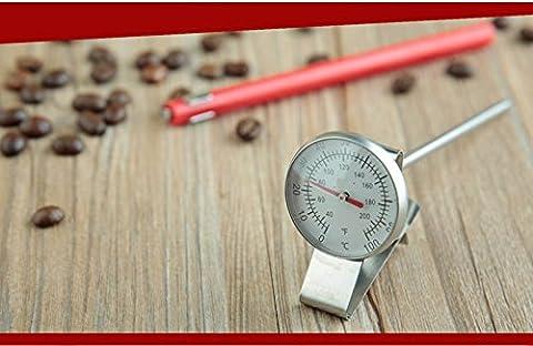 Acier lait Mousseur Thermomètre à café/espresso 0–100? C