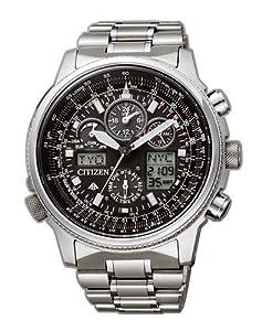 Citizen Promaster Skyhawk JY8020-52E - Reloj cronógrafo de cuarzo para hombre, correa de titanio color plateado de Citizen
