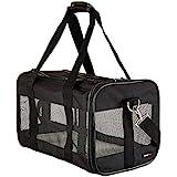 AmazonBasics Medium Soft-Sided Mesh Pet Airline Travel Carrier Bag - 16.5 x 9.5 x 10 Inches, Black