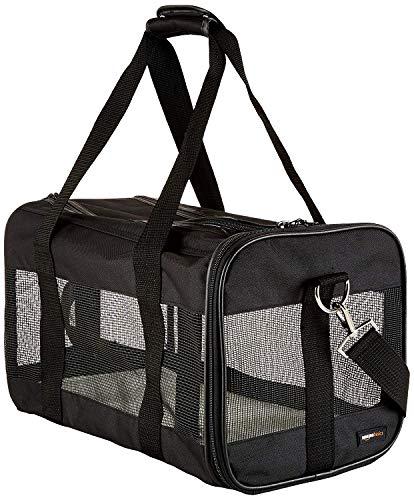 Amazonbasics - trasportino morbido per cani e gatti - medio (41.9 x 23.9 x 24.9 cm), nero
