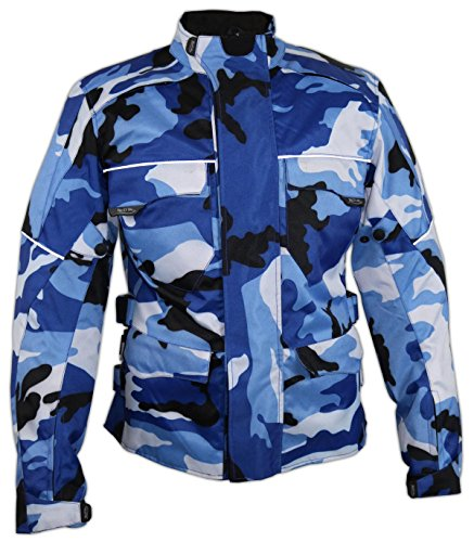 *Herren Motorrad Textil Jacke Motorradjacke Winddicht Wasserdicht Belüftet Camo Camouflage (2XL)*