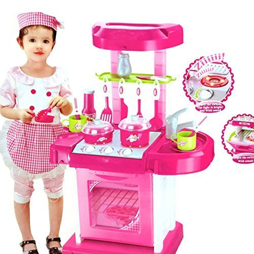 Luxury Battery Operated Portable Kitchen Set Kitchen Toys for Girls