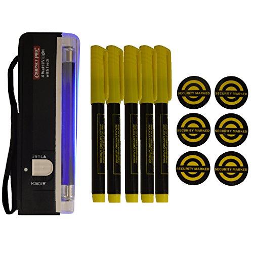 percy-group-kit-de-marquage-uv-pour-objets-precieux-avec-lampe-uv-et-5-marqueurs