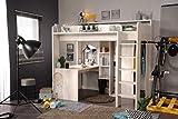 expendio Hochbett Halmstad 1b Esche 206x189x138 cm Bett mit Schreibtisch und Kleiderschrank Kinderbett Jugendbett