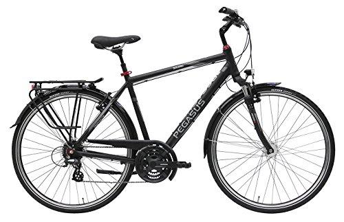 Herren Fahrrad 28 Zoll - Pegasus Solero SL- 24 Gänge Kettenschaltung Herrenrahmen Trekkingrad - Schwarz