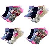 HighClassStyle 12 Paar Kids Mädchen Socken Kinder Sneaker Ladies Strümpfe 95% Baumwolle A-C-220-C217 Gr.23-38