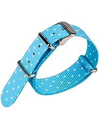 Spot Patrón Azul Tejido de Nylon Lienzo militar del ejército de correa de reloj de nailon trenzado de banda watchband 20mm de ancho