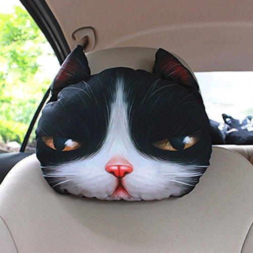 Taillenkissen / Kopfstütze HuanLeBao 3D Hund / Katze Auto Kopfstütze Nackenkissen Auto Sitzkissen Auto Nackenkissen Vier Jahreszeiten Cartoon Innen Zubehör , S