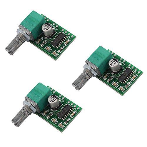 XCSOURCE® 3stk PAM8403 Stereo Verstärker Super Mini 5V Digital Verstärker Karte 3W + 3W DC 5V Audio Verstärker Handy Digital Power Amp Modul TE664