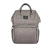LiliChan Baby Diaper Bag Backpack Fashion Design with Anti-Water Material for Both Mom & Dad (Grey)