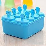 Fjiujin,Molde plástico cuadrado congelado de la cocina DIY del fabricante del polo de la herramienta del helado(color:CAMPANILLA)