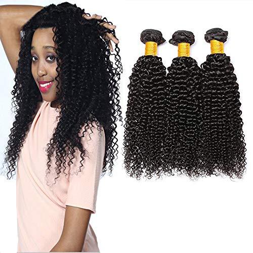 Lvy capelli umani capelli brasiliani vergini 3 fasci di capelli umani ricci extension tessitura capelli veri totale 300g 55 60 65 cm