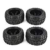 KNOSSOS 4Pcs 150mm Wheel Rim And Tires for 1/8 Monster Truck Racing RC Car Accessories