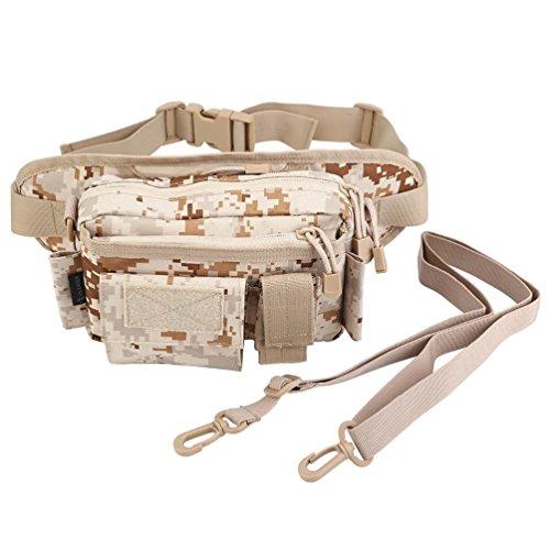 Oleader draußen Taktische Taille Rucksack Nylon Angelgerät Fanny Tasche Schulter tragen schick Tasche Riemen Ausrüstungs Tasche für Jagd Klettern Wandern Camping Desert Digital