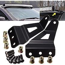 tuincy LED luz barra de montaje soporte para off-road coche superior 50, Negro Acero Sólido, juegos de montaje de barra de luz LED Bar lámpara soportes para GM pastillas y SUVs