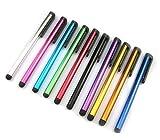 KingCase® 10er Pack universal Stylus Stift Touch Pen Eingabestift Alu Look für alle kapazitive Touchscreens wie Smartphone Handy PDA Tablet PC für Samsung Galaxy S3/S4/S5 Galaxy Tab, iPhone 4/5/6, Sony, HTC,LG Smartphones verschiedene Farben