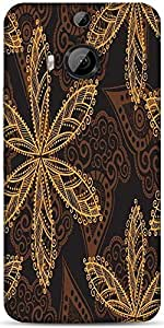 Snoogg Seamless Texture With Flowers And Butterflies Endless Floral Pattern Designer Protective Back Case Cover For HTC M9 Plus