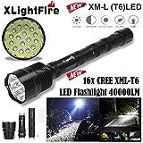 XLightFire 40000 Lumen 16x CREE XML T6 5 Modus 18650 Super helle LED-Taschenlampe