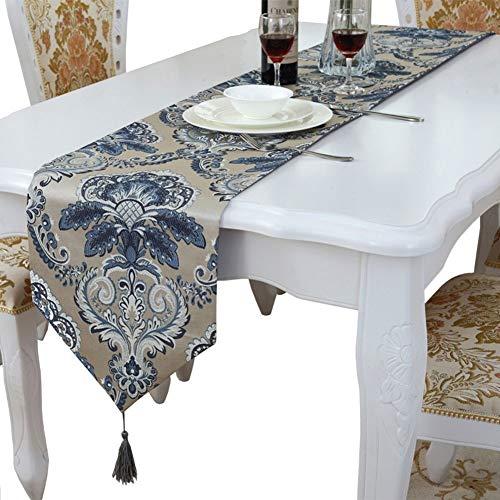 YouYou-YC Neue Gestickte Pfingstrose Blume Tischfahne Chinesischen Stil Couchtisch Tuch Mode Satin Tischdecke Tisch Tischfahne (Farbe : #1, größe : 70 * 180cm)