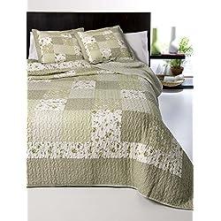 Colcha bouti algodón patchwork real modelo Zulema - cama 135 - medida 235x270