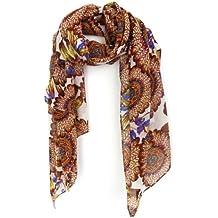 Imixcity Femmes Foulard Mode En Mousseline Soie Souple Wrap étole Châles Echarpes 160*70CM 17 Sortes De Dessin