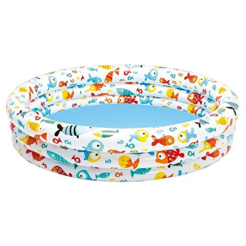 INTEX - Piscina hinchable 3 aros peces 132 x 28 cm - 248 l/agua (59431)