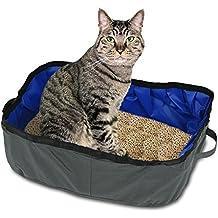 Petacc Caja Plegable de Gato Arenero Portatil para Mascotas Caja Impermeable de Viaje al Aire Libre