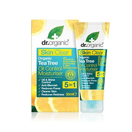 Dr. Organic Soin Hydratant à l'Huile de Tea Tree Bio Skin Clear 50 ml