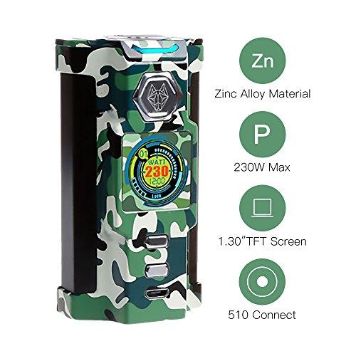 SIGELEI E Zigarette Akkuträger 230W TC Box Mod SNOWWOLF Riesige Dampf Elektronische Zigarette Verdampfer, Keine Batterie, E Flüssigkeit, Nikotinfrei (Woodland-Tarnung)