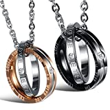 Best Necklace His And Hers - Peora His Her Titanium Steel Love Engraved Rings Review