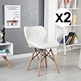 Best Office Chair Whites - WEIBO Eiffel Style Leather Soft Dining Chairs Office Review