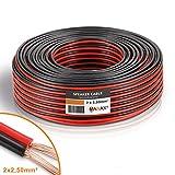 MANAX® Lautsprecherkabel CCA 2x2,5mm² rot/schwarz 25 m Ring