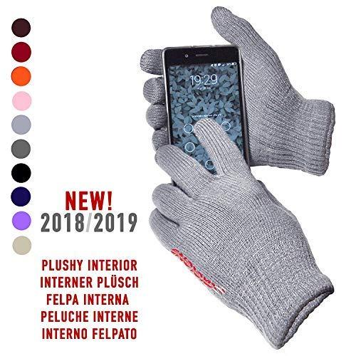 AXELENS Guanti Touch Screen Capacitivi per Smartphone Cellulari e Tablet Universali Unisex Grigio