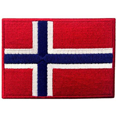 Norwegen Flagge Emblem Norwegisch Bestickter Aufnäher zum Aufbügeln / Annähen