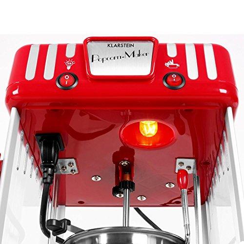 Klarstein Volcano Popcornmaschine Retro-Design mit Innenbeleuchtung - 6