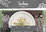Tavolinas Papier Tischset - Herba - Kräuter - Stilvolle Tischdeco - Schiefergrau - 24 Blatt - Individuell beschriftbar