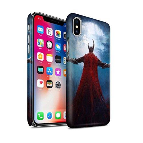 Offiziell Chris Cold Hülle / Matte Snap-On Case für Apple iPhone X/10 / Gevatter Tod Muster / Dämonisches Tier Kollektion Dunkelste Stunde