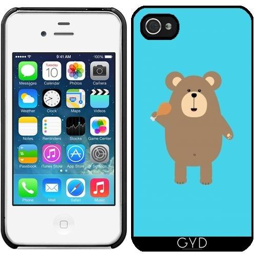 Leder Flip Case Tasche Hülle für Apple iPhone 6 Plus / 6S Plus - Braunbär Mit by ilovecotton Starre Kunststoff