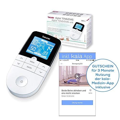 Beurer EM 49 Digital TENS/EMS elektrische Nerven- und Muskelstimulation, inkl. App zur Bekämpfung von Rückenschmerzen - Gerät Rückenschmerzen Für