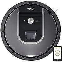 iRobot Roomba 960 Robot Aspirador Potente, Rendimiento de Limpieza, Sensores de Suciedad Dirt Detect, Toda la Casa, Óptimo para el Pelo de Mascotas, WiFi, Gris
