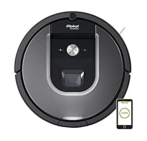 iRobot Roomba 960 Staubsaugroboter (fortschrittliche Reinigungsleistung mit Dirt Detect, für alle Böden, ideal bei Tierhaaren, reinigt alle Räume, WLAN-fähig), silber