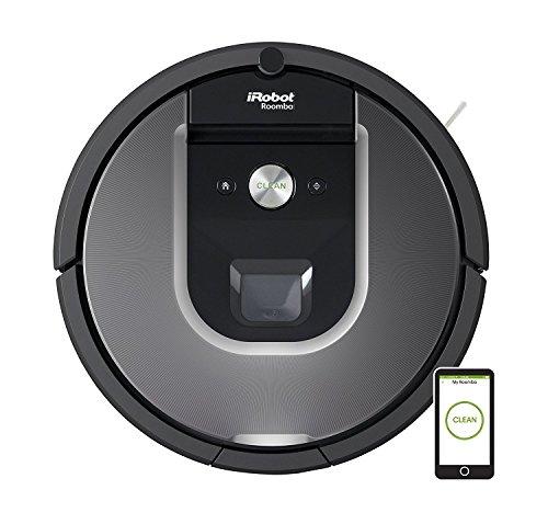 iRobot Roomba 960 - Robot Aspirador con Potente Rendimiento de Limpieza, Sensores de Suciedad Dirt Detect, Toda la Casa, Óptimo para el Pelo de Mascota, Wifi, Color Gris
