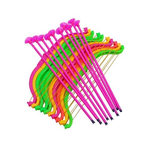 STOBOK 24-teiliges Kunststoff-Set für Kinder, Bogen und Pfeil-Set, Saugnäpfe, Bogenschießen, Sport, Feiern (zufällige Farbe)