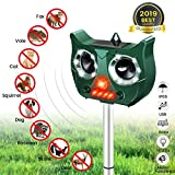 MOHOO Repulsif Chat Ultrason Solaire Chat Repulsif Chat Exterieur Ultrason Chat Animaux Nuisibles 5 mode Fréquence Réglable pour Jardins Champs Pépinières-2019 Nouvelle Version