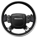 SEG Direct Couvre Volant Blanc Microfibre Cuir Pour Range Rover F-150 Tundra 39.5-41 cm