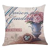 Kissenbezug Kissenhülle 45x45 cm Ronamick Blumen Kissenbezüge Sofakissen Dekokissen Sofa Bett Home Decorative pillow cover (C)