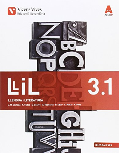 LLIL 3.1, 3.2 TRIM BAL (LLENGUA I LITERATURA ESO) AULA 3D: 000002 - 9788468231105 por Josep Mª Castella Lidon