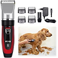 Surker Cortapelos Profesional para mascotas pequeñas medianas y grandes ,perros, gatos y otros animales, 2 baterías
