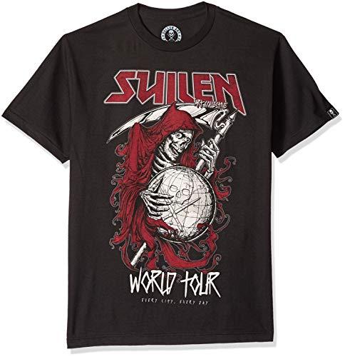 Sullen Men's World Tour T Shirt Black 4XL