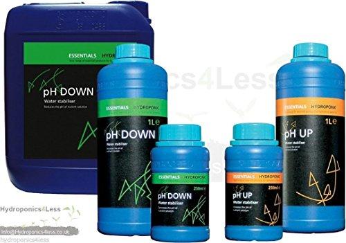 Essentials PH Up und Down Lösung Aquarium Hydrokultur 250ml 1, 5Liter (Generic Lösung)